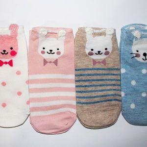 Accessories - Cute Adorable Bunny Socks BNWOT 5 pairs